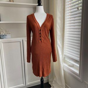 FOREVER 21 PLUS CAMEL/RUST SWEATER DRESS SIZE 2X